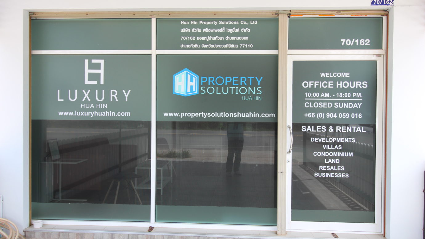 Property Solutions Hua Hin Office Window